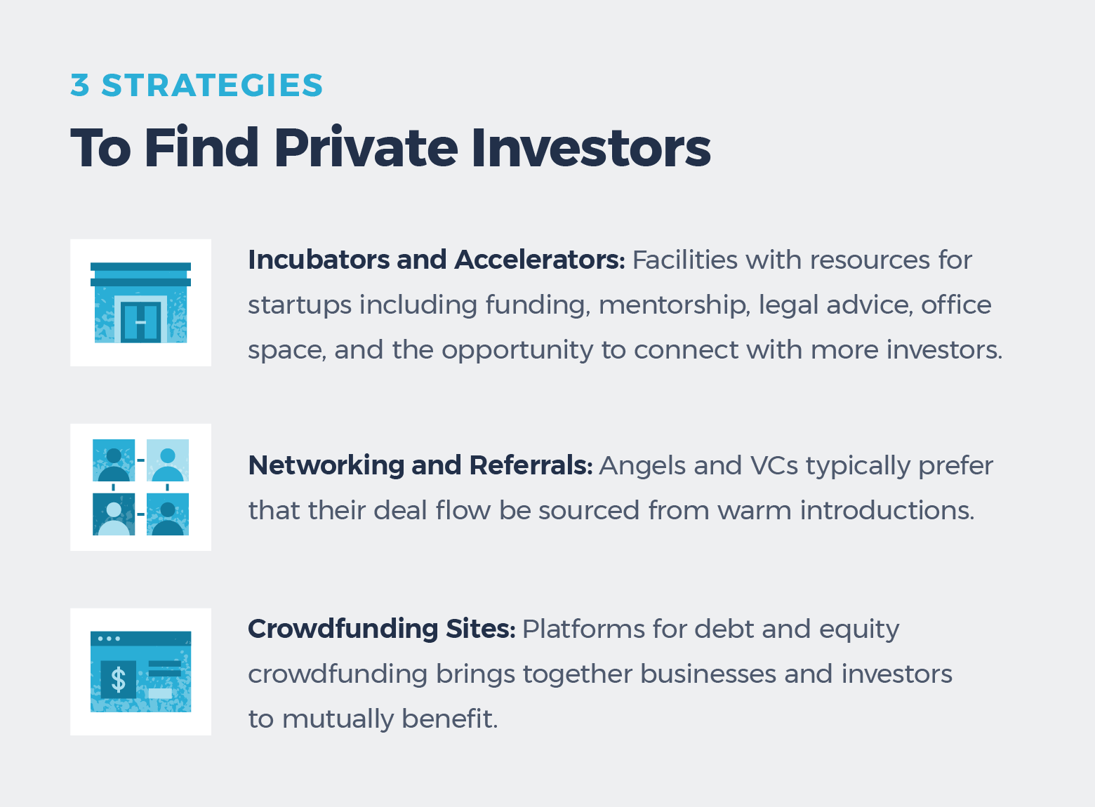 strategies for finding private investors